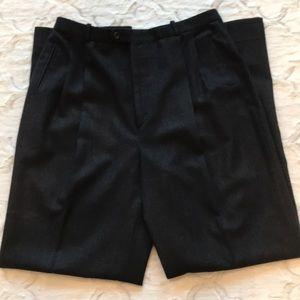 Barry Bricken dark gray midweight wool slacks
